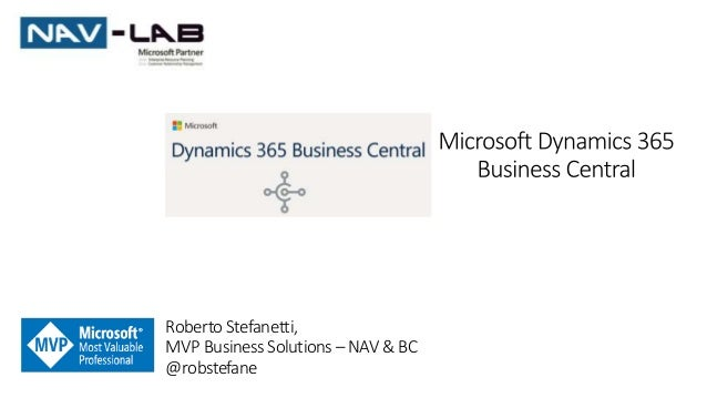 RobertoStefanetti, MVP BusinessSolutions– NAV &BC @robstefane