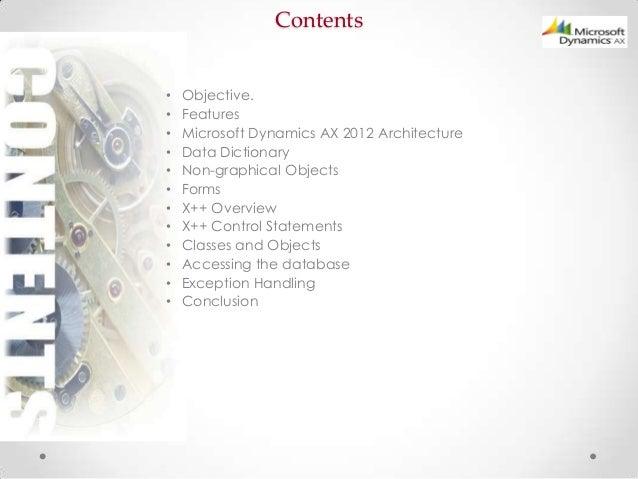 Microsoft dynamics ax 2012 development introduction part 1/3 Slide 3