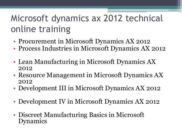 microsoft dynamics ax 2009 training manual