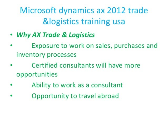 microsoft dynamics ax 2012 trade and logistics pdf