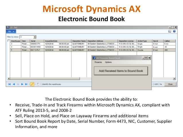 Firearms POS and Business Management With Microsoft Dynamics AX