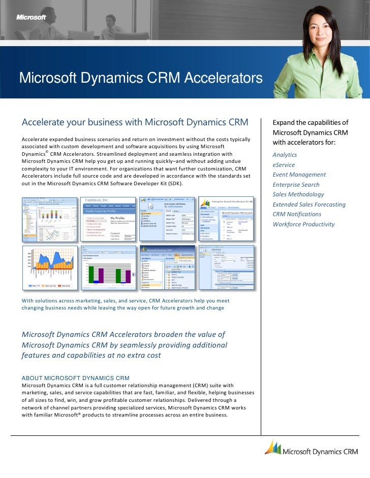 Microsoft Dynamics CRM Accelerators  Accelerate your business with Microsoft Dynamics CRM                                 ...