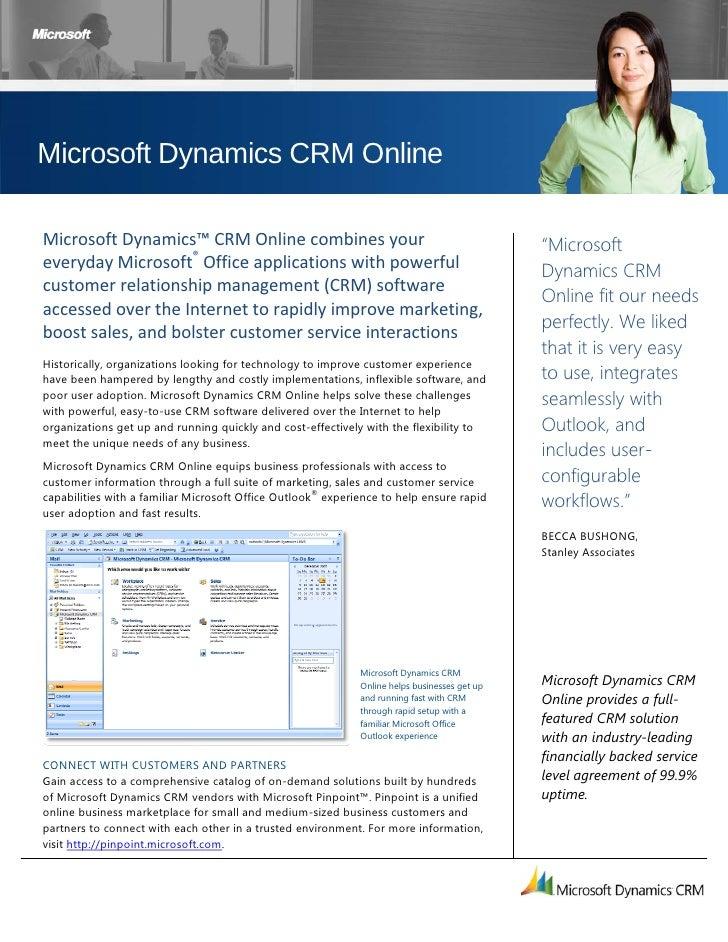 Microsoft Dynamics CRM Online  MicrosoftDynamics™CRMOnlinecombinesyour                                        ...