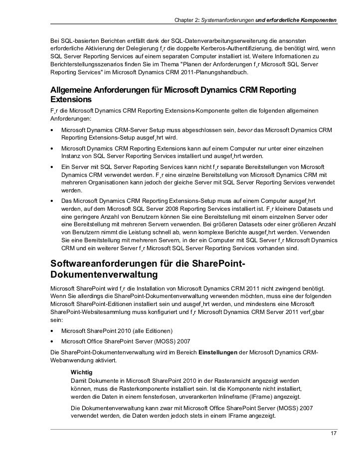 Chapter 2: Systemanforderungen und erforderliche KomponentenBei SQL-basierten Berichten entfällt dank der SQL-Datenverarbe...