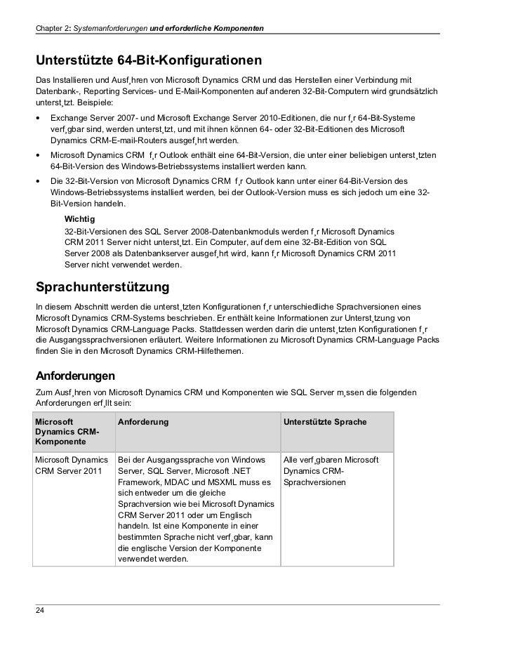 Chapter 2: Systemanforderungen und erforderliche KomponentenUnterstützte 64-Bit-KonfigurationenDas Installieren und Ausfüh...