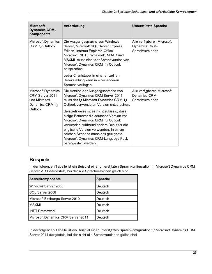 Chapter 2: Systemanforderungen und erforderliche KomponentenMicrosoft             Anforderung                             ...