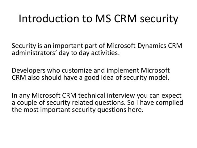 microsoft dynamics crm interview questions pdf