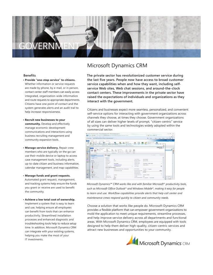 Microsoft Dynamics CRM-Government