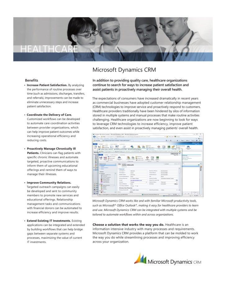 Microsoft Dynamics CRM HealthCare