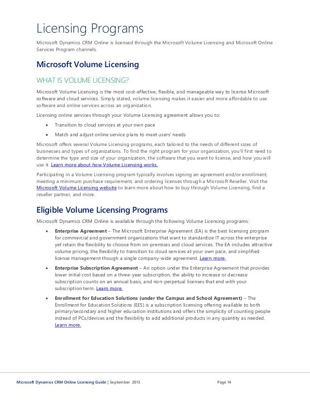 Microsoft Dynamics Crm Pricing And Licensing Guide From Atidan