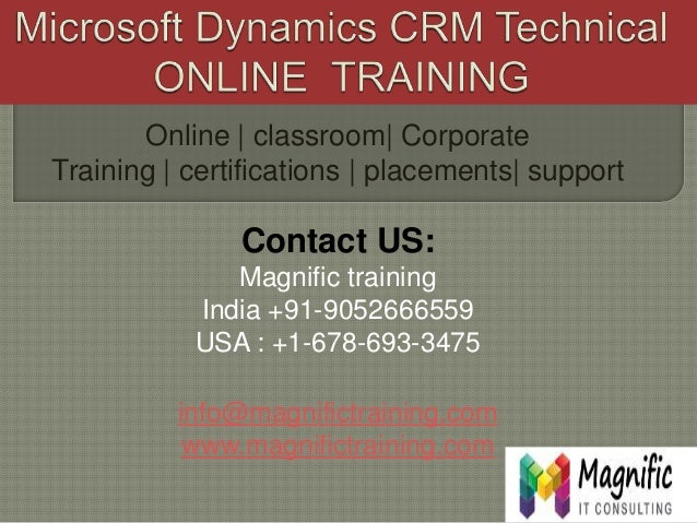 Online   classroom  Corporate Training   certifications   placements  support Contact US: Magnific training India +91-9052...