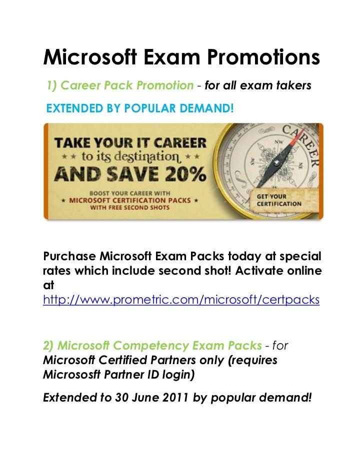 Microsoft Exam Promotions