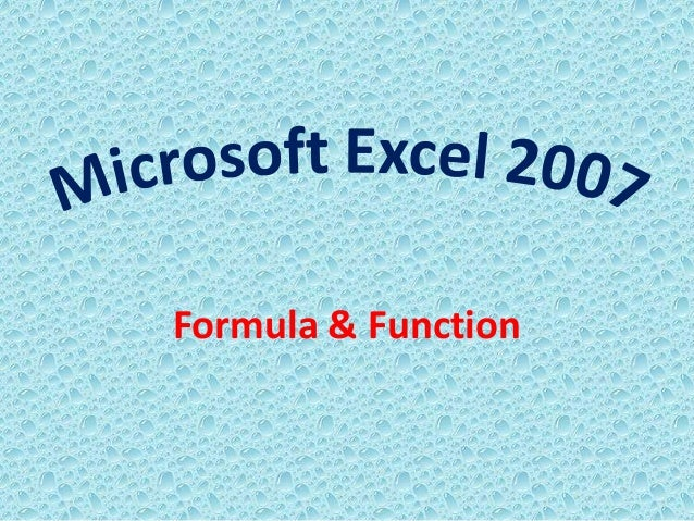 Formula & Function