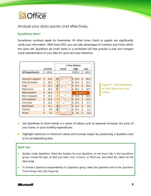 Microsoft excel 2010 product guide final – In Addition to Its Worksheet Capabilities Excel Can