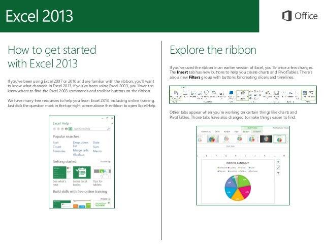Microsoft excel 2013 Quickstart Slide 2