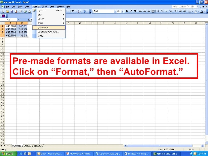 pre made spreadsheets