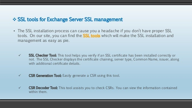 Microsoft Exchange Server & SSL Certificates: Everything you