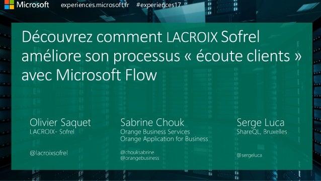 experiences.microsoft.fr #experiences17