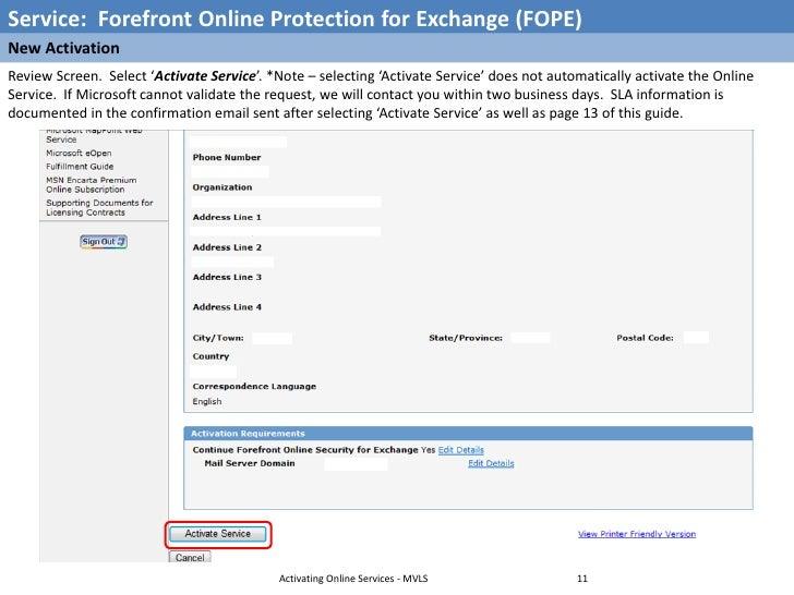 microsoft volume licensing server