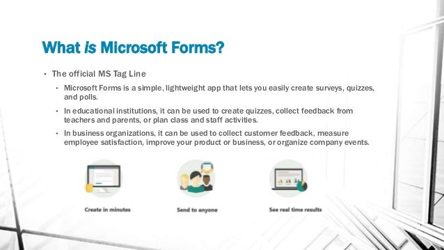 Microsoft Forms 101 Slide 3