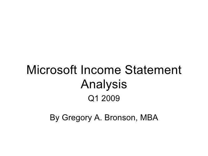 microsoft profit and loss statement