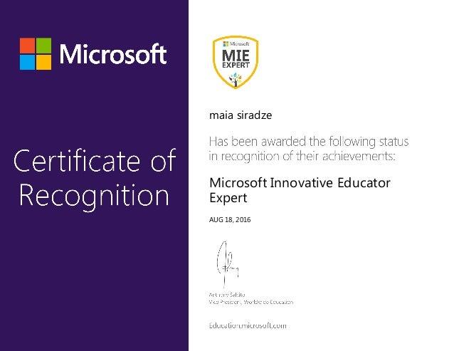 maia siradze Microsoft Innovative Educator Expert AUG 18, 2016