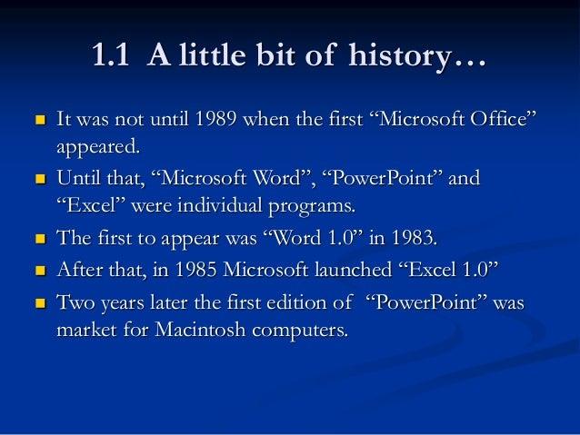 Microsoft intro to office for Bureau word origin