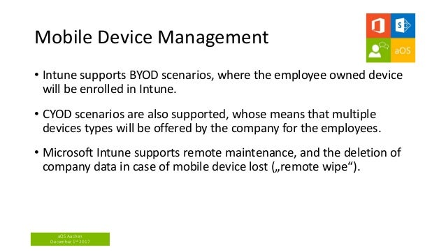 Microsoft intune with managed apps and security device policies - Sas…