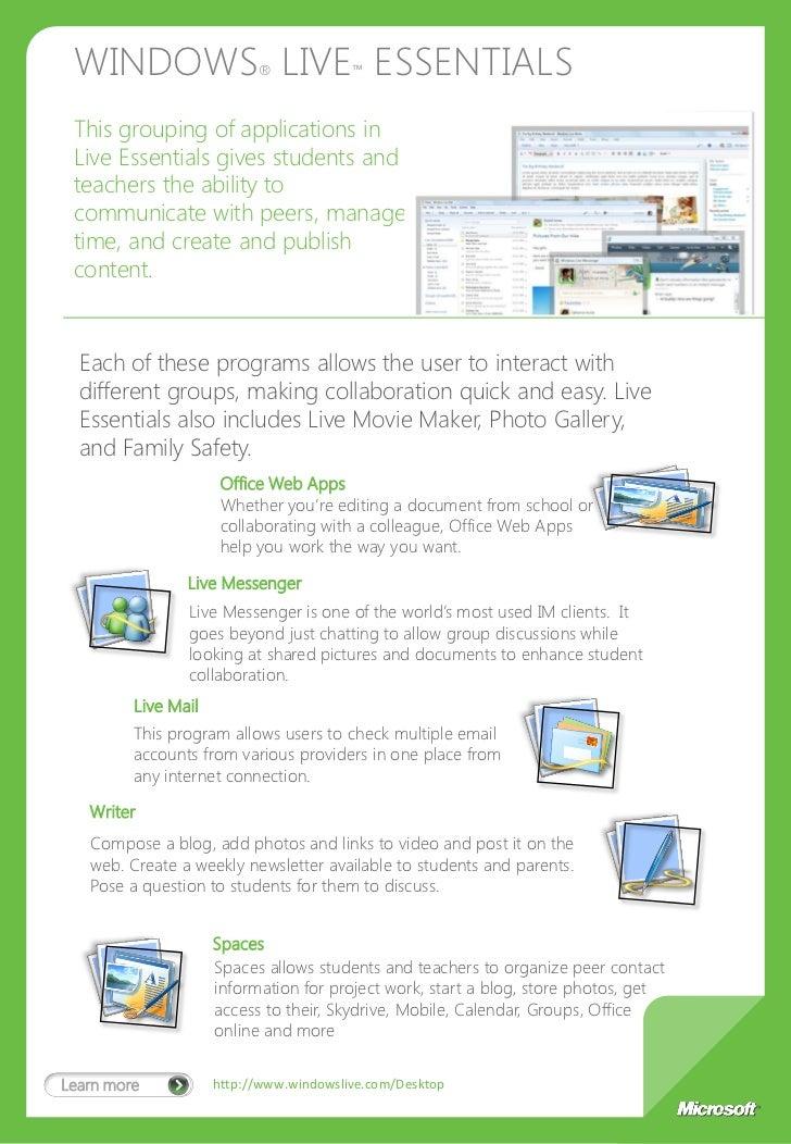 microsoft learning suite brochure