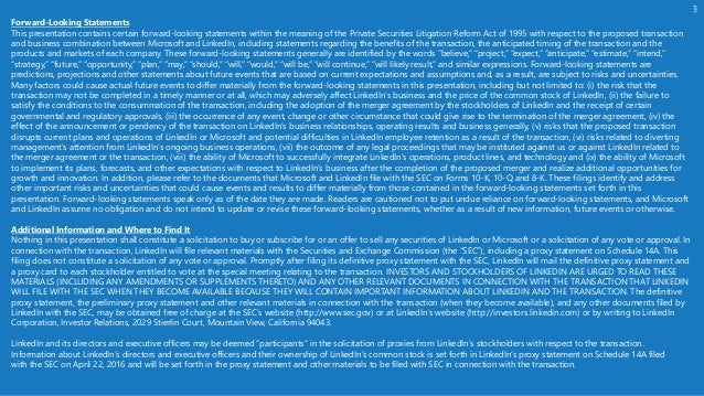 Microsoft to Acquire LinkedIn: Overview for Investors Slide 3