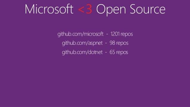 Microsoft <3 Open Source Slide 3
