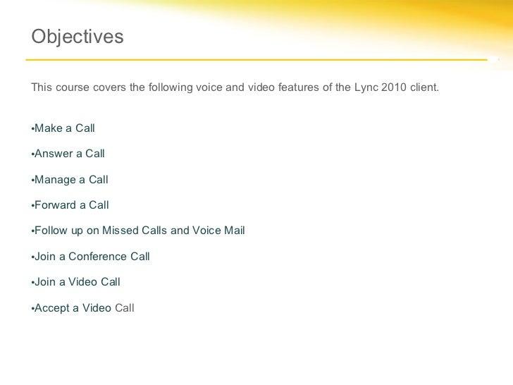 Microsoft lync 2010_voice_and_video_training_rtm Slide 2