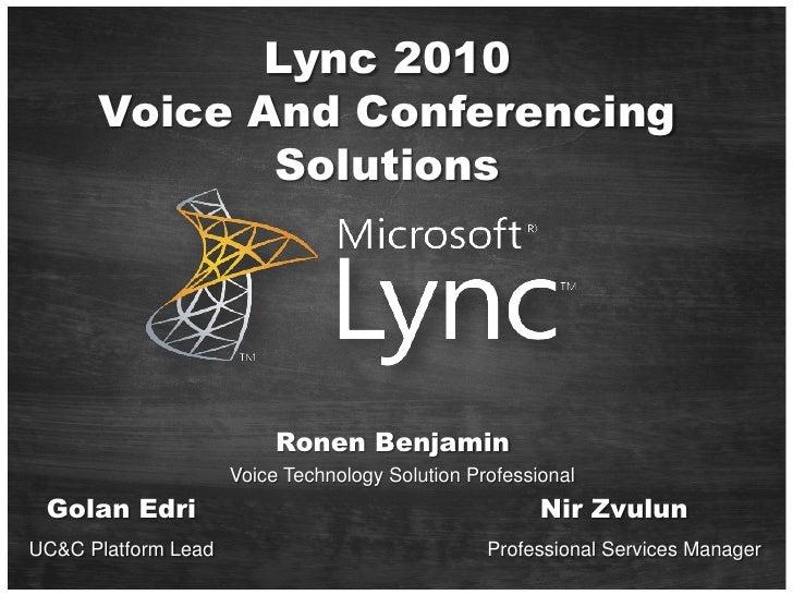 Microsoft Lync   Teched Eilat