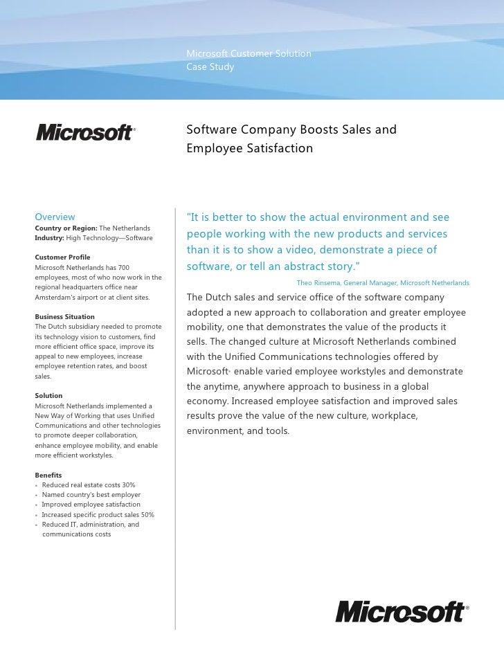 Microsoft Customer Solution                                            Case Study                                         ...