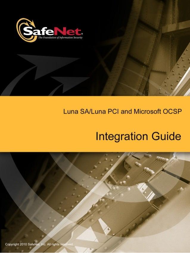 Microsoft OCSP LUNA SA PCI Integration