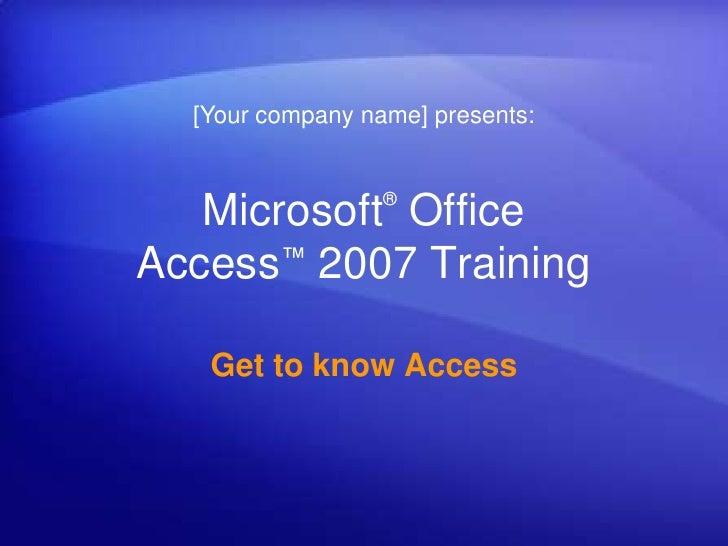 Microsoft® office presentation