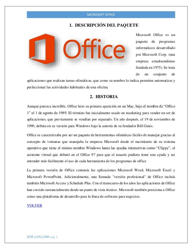 Trabajo final microsoft office for Actividades que se realizan en una oficina wikipedia