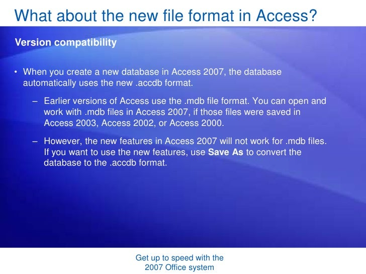 What are the features of microsoft access