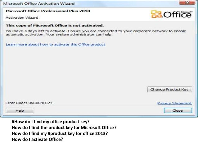 office 2010 corporate activation key
