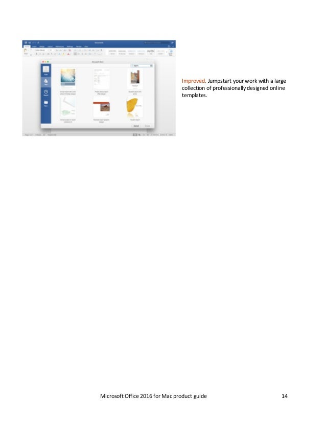 Microsoft Office 2016 for Mac Product Guide