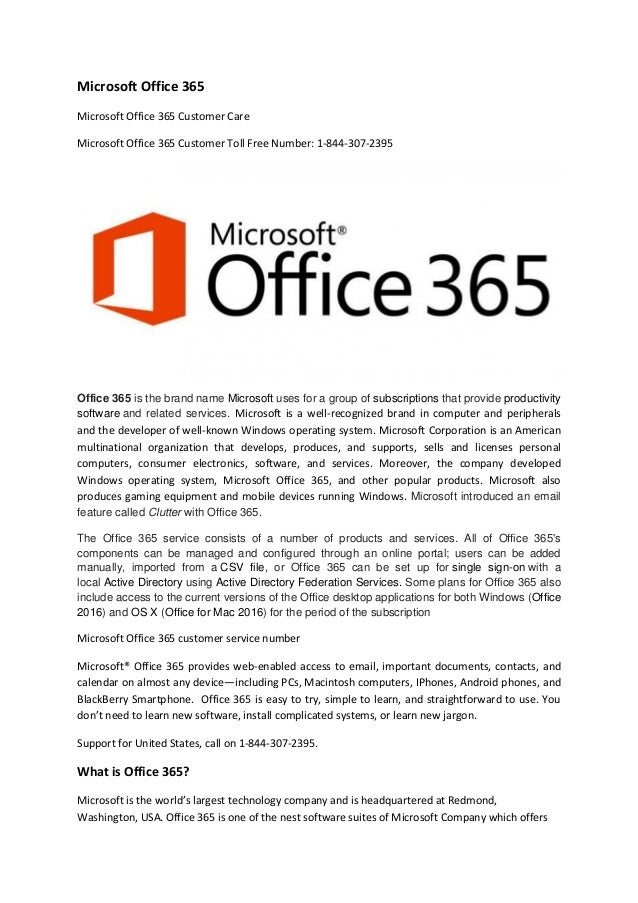 Microsoft office 365 Technical Support Services