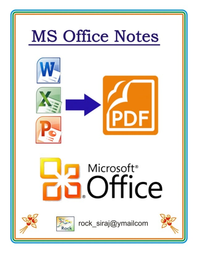 Ms Powerpoint 2007 Notes Pdf In Hindi