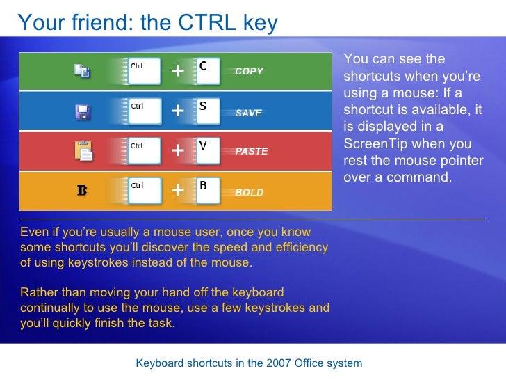 ms office 2007 keyboard shortcuts pdf