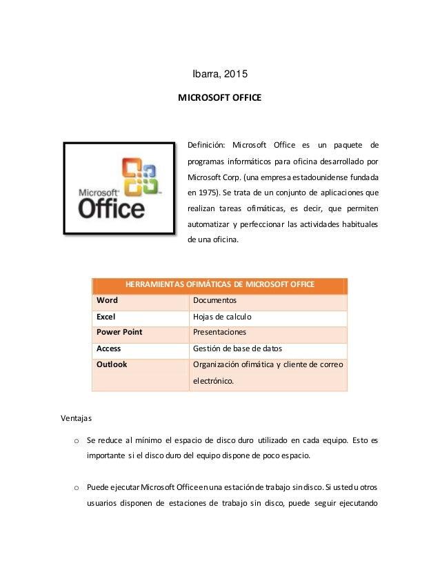 Ventajas y desventajas de las versiones de office para for Actividades que se realizan en una oficina wikipedia