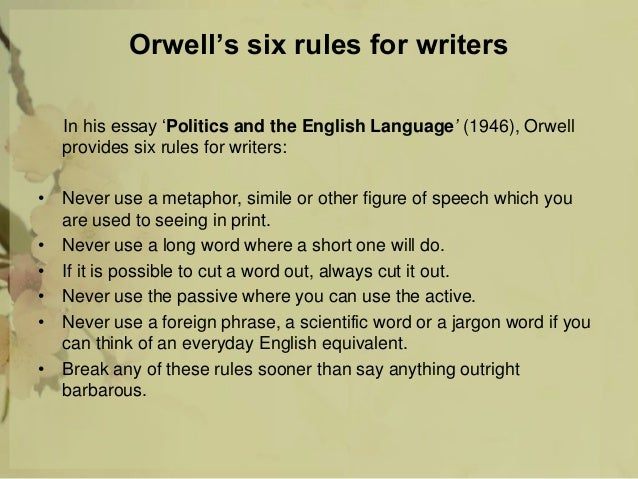 Merveilleux George Orwell Essay Politics English Language Essay Frankenstein