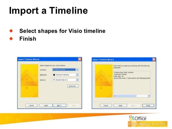7 import a timeline - Visio Timeline Shapes