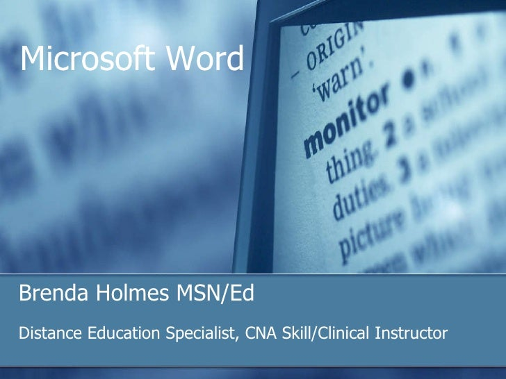 Microsoft ®  Office  Word 2003 Training Great Word features South Arkansas Community College Microsoft Word Brenda Holmes ...