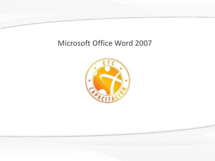 Microsoft office word 2007 e agm