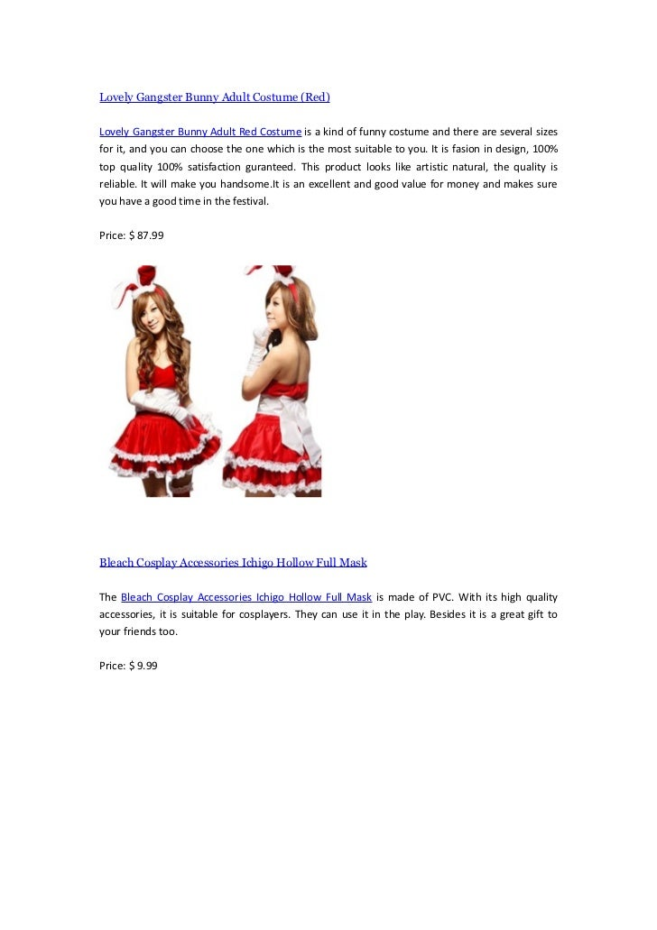 Lovely Gangster Bunny Adult Costume (Red)Lovely Gangster Bunny Adult Red Costume is a kind of funny costume and there are ...