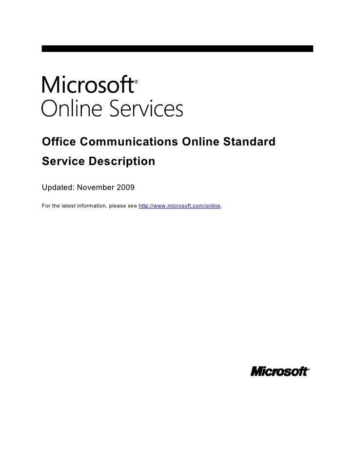 Get Instant Messaging and Presence Functionality with Microsoft Office Communications Online: Whitepaper